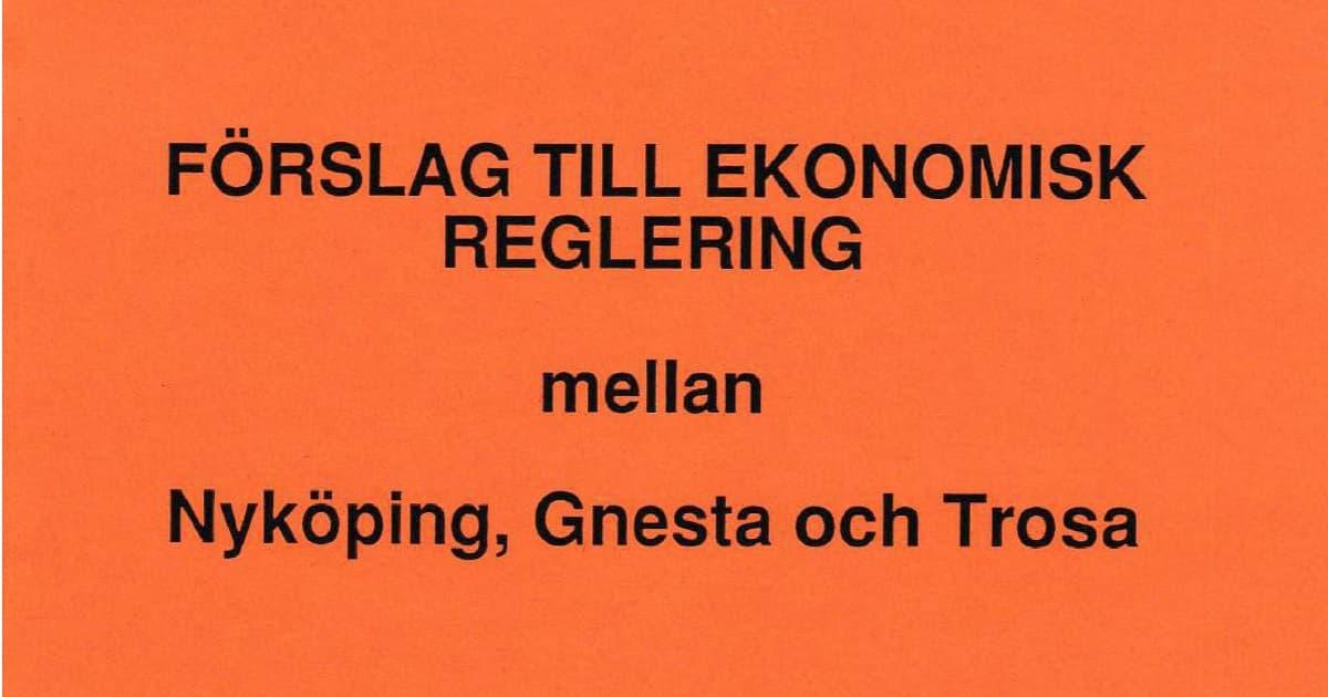 Gnesta, Nyköping och Trosa bildade nya kommuner 1992. Som vilken skilsmässa som helst - läs bodelningsdokumentet här!