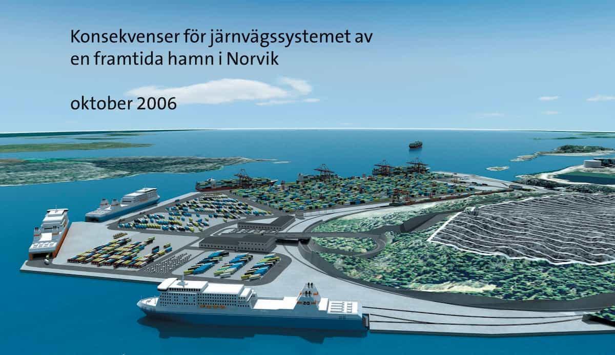 RAPPORT - Banverkets regeringsuppdrag Konsekvenser för järnvägssystemet av en framtida hamn i Norvik