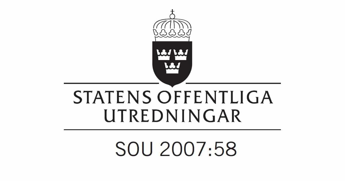2007-09-20 - Slutbetänkande av Hamnstrategiutredningen, SOU 2007:58 - Hamnstrategi – strategiska hamnnoder i det svenska godstransportsystemet