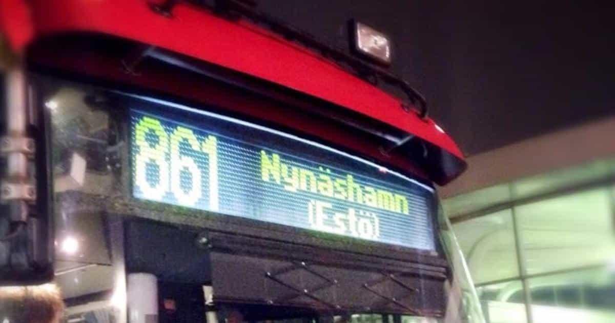 Pressmeddelande Vi frågar om direktbussar Ösmo-Stockholm!