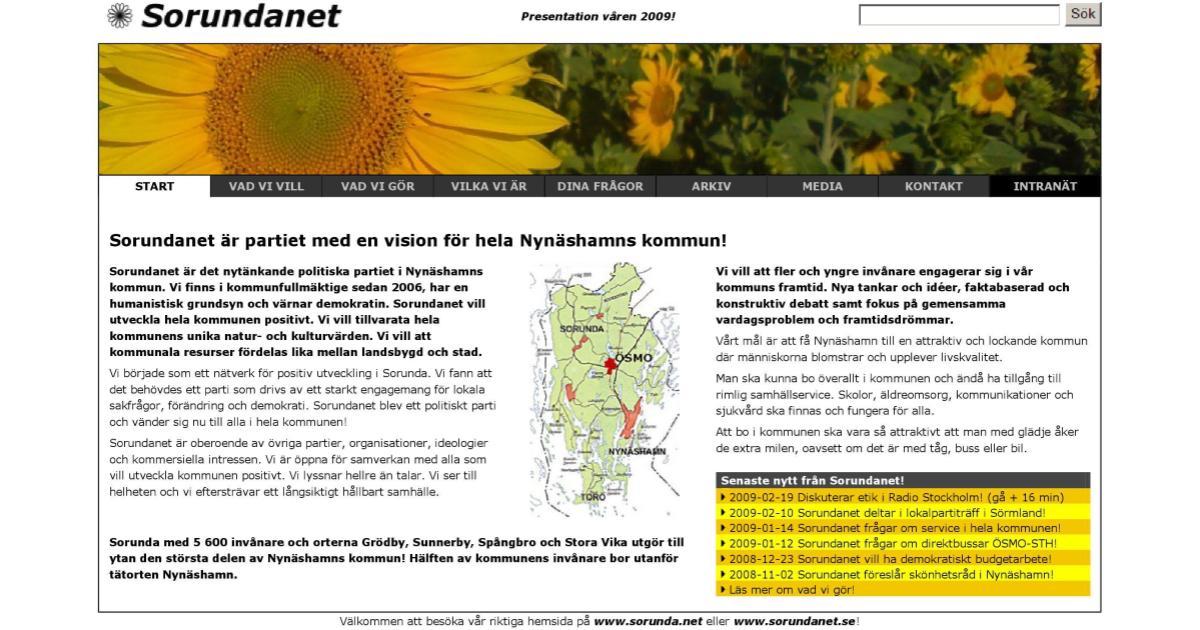 2009-03-04 - Vi är partiet med en vision för hela Nynäshamns kommun! - Att bo i vår kommun ska vara så attraktivt att man med glädje åker de extra milen, oavsett om det är med tåg, buss eller bil.
