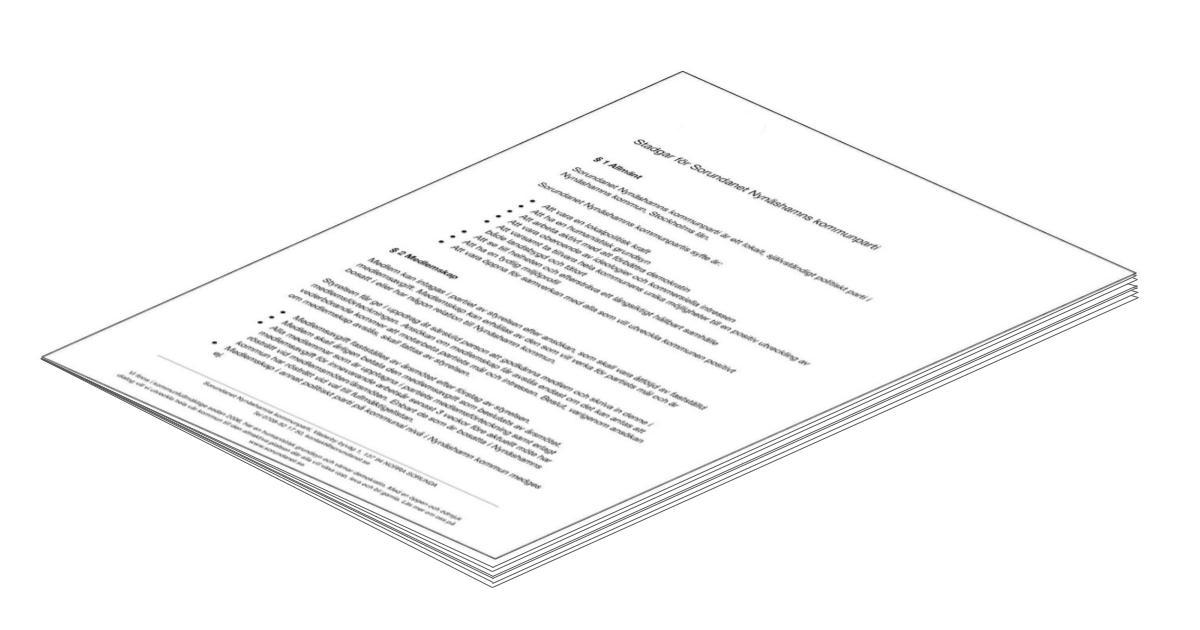 Sorundanets stadgar antagna på årsmötet 2010-03-28 Vi är ett lokalt, självständigt politiskt parti i Nynäshamns kommun, Stockholms län.