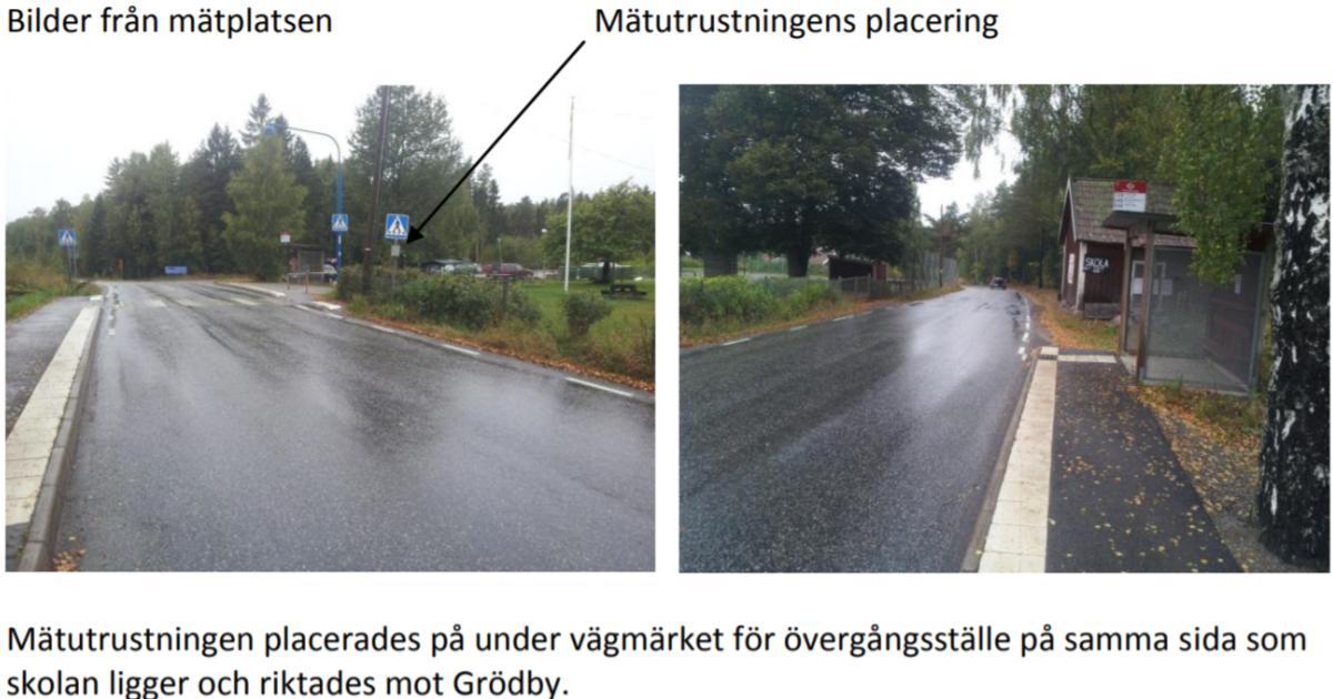 2013-10-07 - Det går fort vid Fagerviks skola! - Topphastigheten var 116 km/h och under skoltid var rekordet 79 km/h! Vår kommun och Trafikverket borde göra något tillsammans