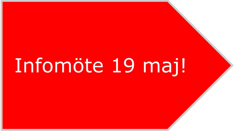 Inbjudan till infomöte den 19 maj 2014. Välkommen till informationsmöte om hur man skapar två nya pigga kommuner!