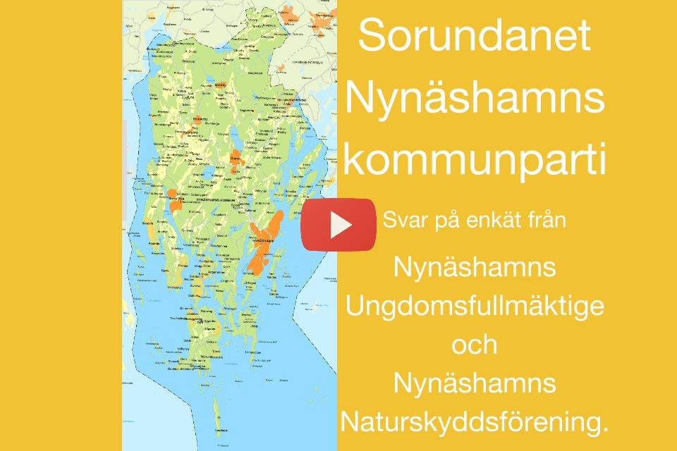Vi svarar på enkät Nynäshamns Naturskyddsförening och Nynäshamns Ungdomsfullmäktige har skickat ut en enkät till partierna.