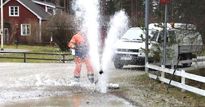 Interpellation beträffande reparation av vattenläcka Till kommunalrådet Daniel Adborn tillika ordförande i miljö och samhällsbyggnadsnämnden