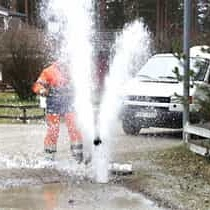 2015-04-01 - Svar på interpellation om reparation av vattenläcka - Vägföreningen och de boende fick ju bra svar. Undrar om kommunalrådet har rådgjort med kommunjuristen?