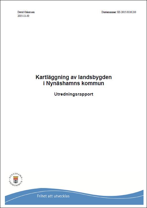 Kartläggning av landsbygden i Nynäshamns kommun Utredningsrapport