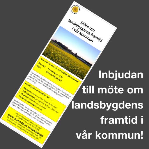 Läs inbjudan till möte om landsbygdens framtid i hela vår kommun! Idag distribuerades vår inbjudan till alla hushåll på Torö och i kommundelarna Ösmo och Sorunda.