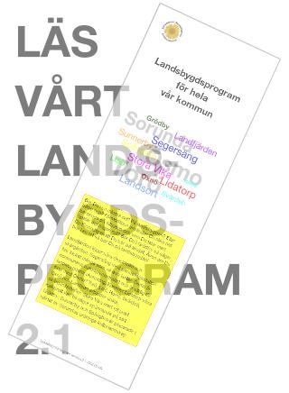 2016-02-09 - Läs vårt Landsbygdsprogram 2.1. - Bor Du i en mindre ort? På landsbygden? Eller både och?