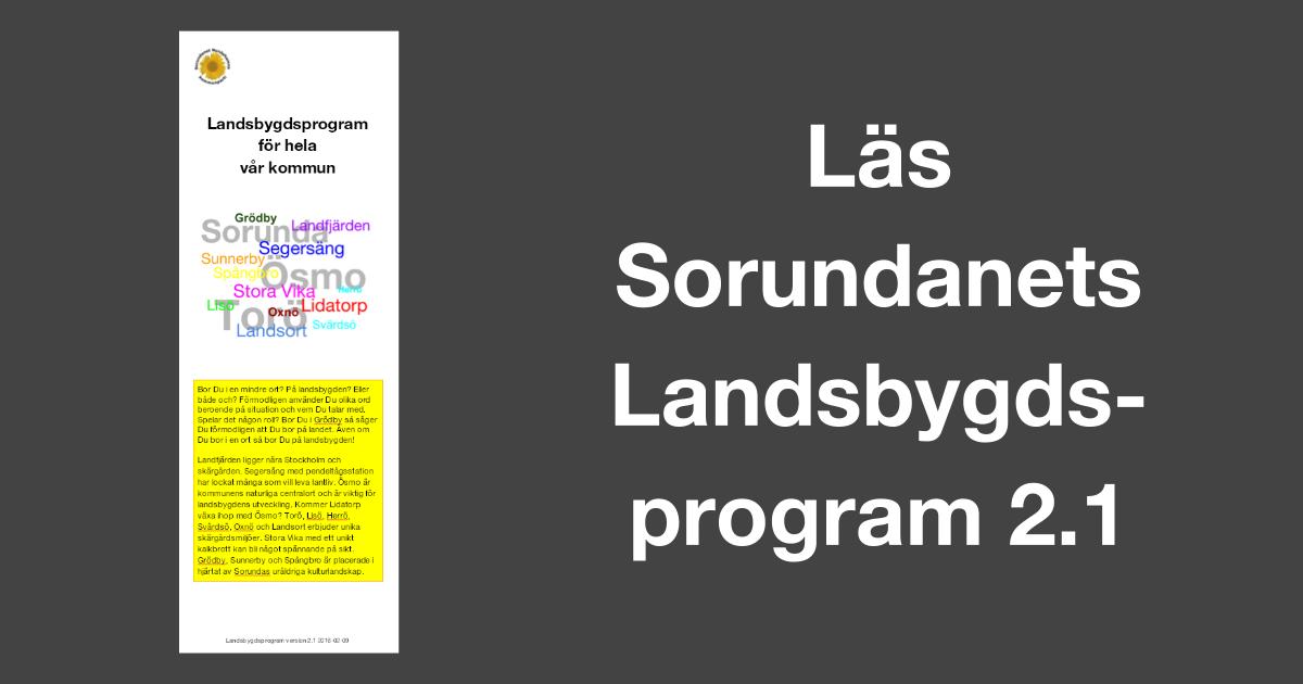 Digital version av Landsbygdsprogram för hela vår kommun!