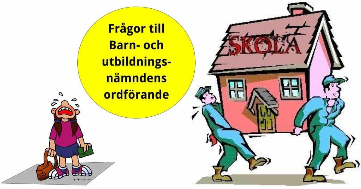 Interpellation angående avveckling av skolor i Sorunda rektorsområde. Är det korrekt att det planeras för nedläggning av Fagerviks och Vika skola och när kommer detta i så fall att ske?