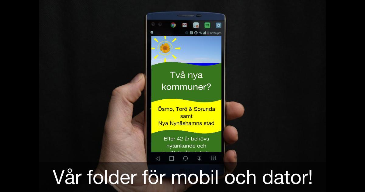 """Digital folder för mobil, läsplatta och dator! Läs vår """"efolder"""" direkt i din mobila enhet."""