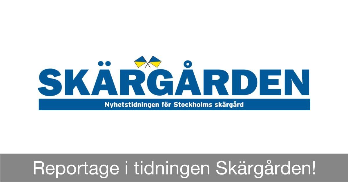 Reportage i tidningen Skärgården Tidningen Skärgården utmanar lokaltidningen i Nynäshamn?