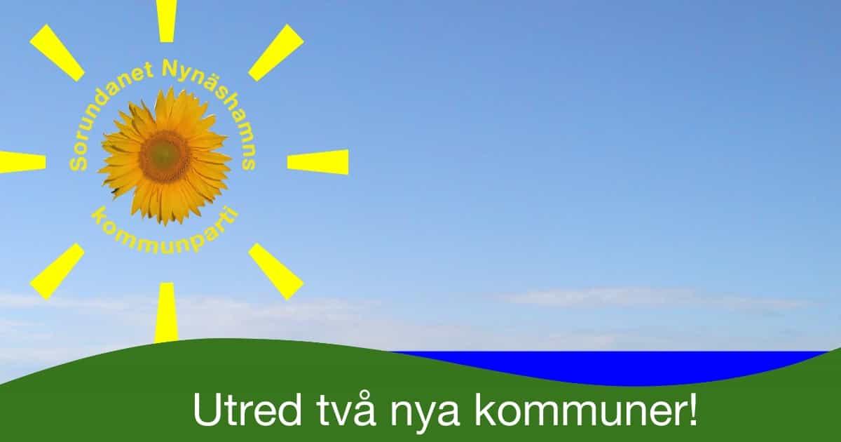 2016-08-26 - Ösmo, Torö & Sorunda samt Nya Nynäshamns stad? - Efter 42 år behövs nytänkande och kraftfulla åtgärder! Utred ekonomi, organisation och demokrati.