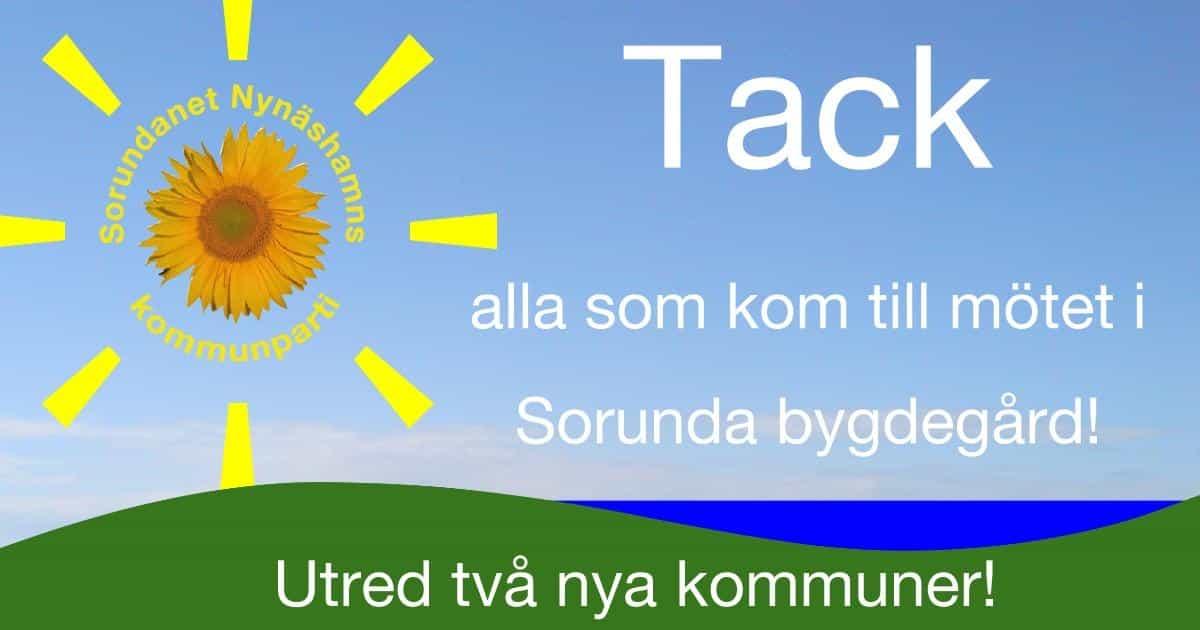 Nästa möte den 25/9 i Ösmo! Många erfarenheter och mycket att lära från de som redan bildat ny kommun.