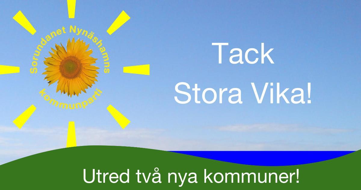Tack Stora Vika för uppslutning och engagemang! Välkommen till Segersäng den 23/10 om Du inte kunde komma till Stora Vika.