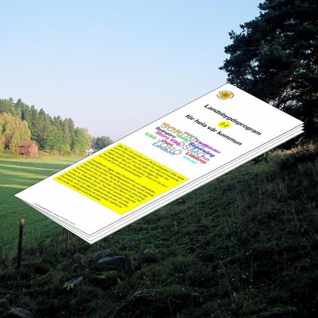 2016-10-20 - Landsbygdsprogram 2.2 för hela vår kommun - Vår kommun kan erbjuda ett unikt lantligt boende med levande landsbygd i omedelbar närhet till Stockholm.
