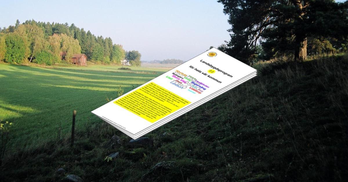 Landsbygdsprogram 2.2 för hela vår kommun Vår kommun kan erbjuda ett unikt lantligt boende med levande landsbygd i omedelbar närhet till Stockholm.