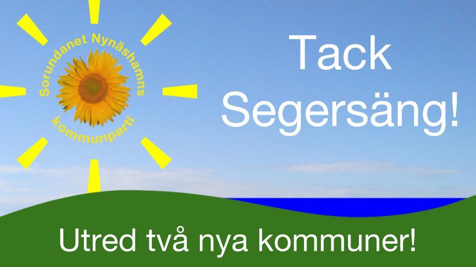 Tack för Ert engagemang! Välkommen till Torö den 30/10 om Du inte kunde komma till Segersäng.