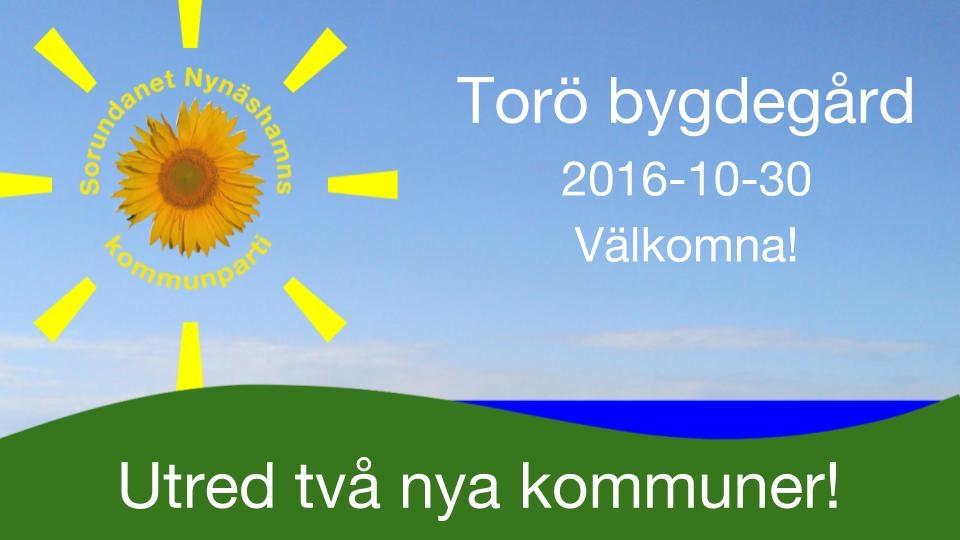 2016-10-24 - Erfarenheter från nybildade kommuner. Kom, lyssna, fråga och diskutera! - Hjälp oss planera; anmäl Dig i förväg. Som tack bjuder vi på fika.