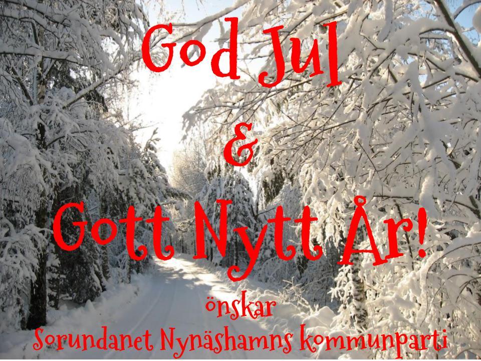God Jul och Gott Nytt År Önskar vi alla!
