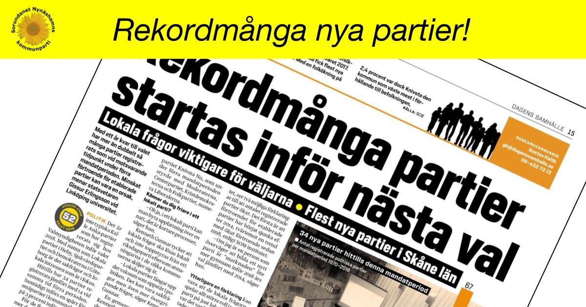 Rekordmånga partier startas inför nästa val