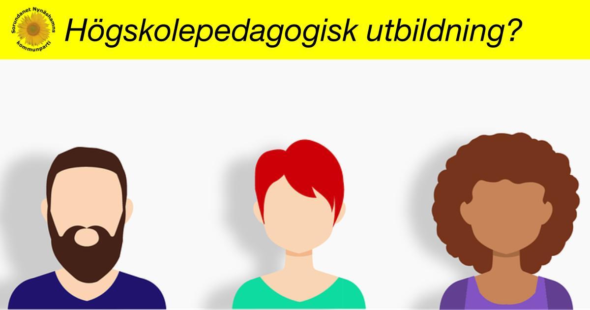Interpellation om andelen lärare med högskolepedagogisk utbildning i Nynäshamns kommuns grundskolor