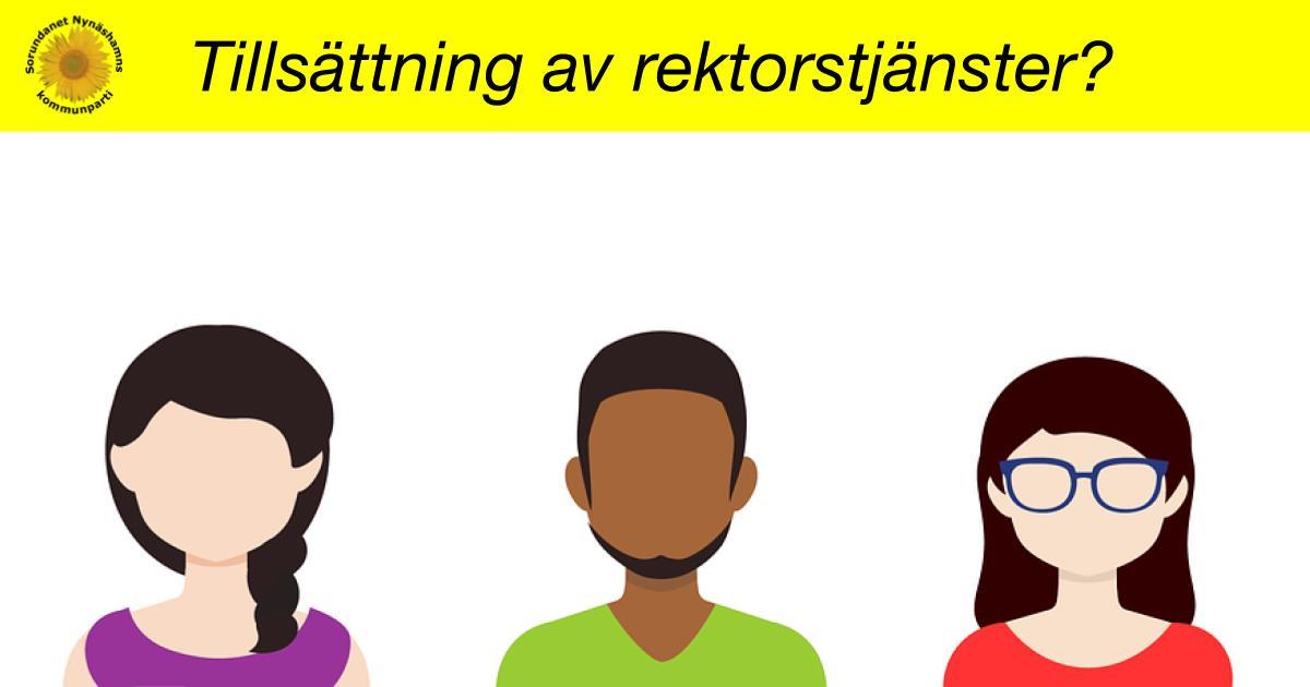 Interpellation om tillsättning av rektorstjänster i Nynäshamns kommun