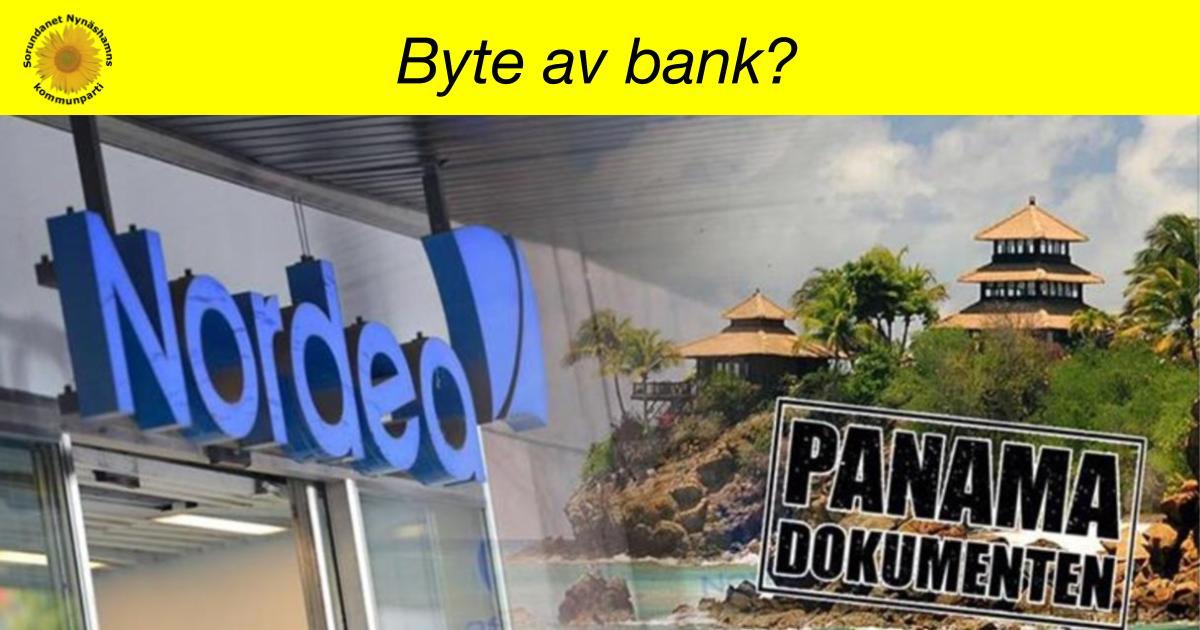 Interpellation om byte av bank