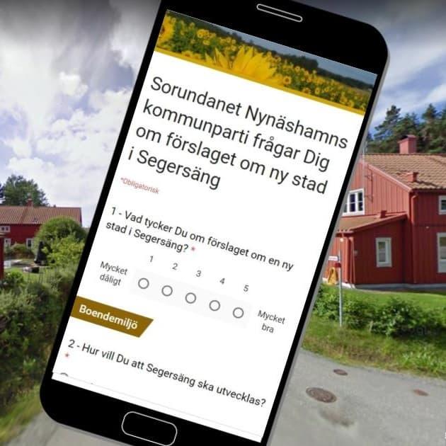 2017-10-03 - Vi frågar Dig om förslaget om ny stad i Segersäng - Vi lyssnar på invånarna och vill veta vad Du tycker!