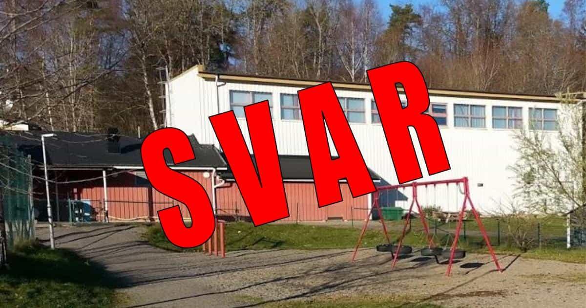 Svar om hyressättningen för den stängda idrottshallen i Stora Vika