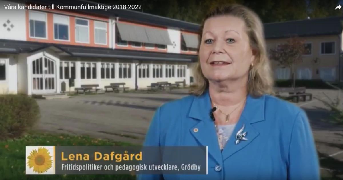 Våra kandidater till Kommunfullmäktige 2018-2022 Lena Dafgård är fritidspolitiker, pedagogisk utvecklare och bor i Grödby.
