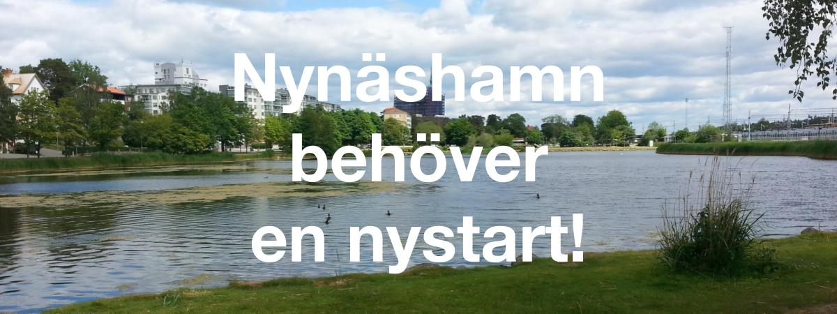 Nynäshamn behöver en nystart! Rösta för en nystart! Rösta på Sorundanet Nynäshamns kommunparti!