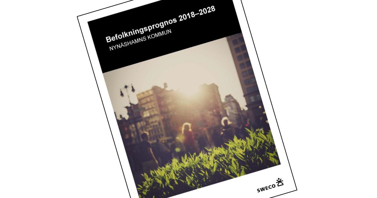 Befolkningsprognos 2018-2028 Prognosen utgår från den folkbokförda befolkningen i kommunen per ålder och kön den 31 december år 2017.