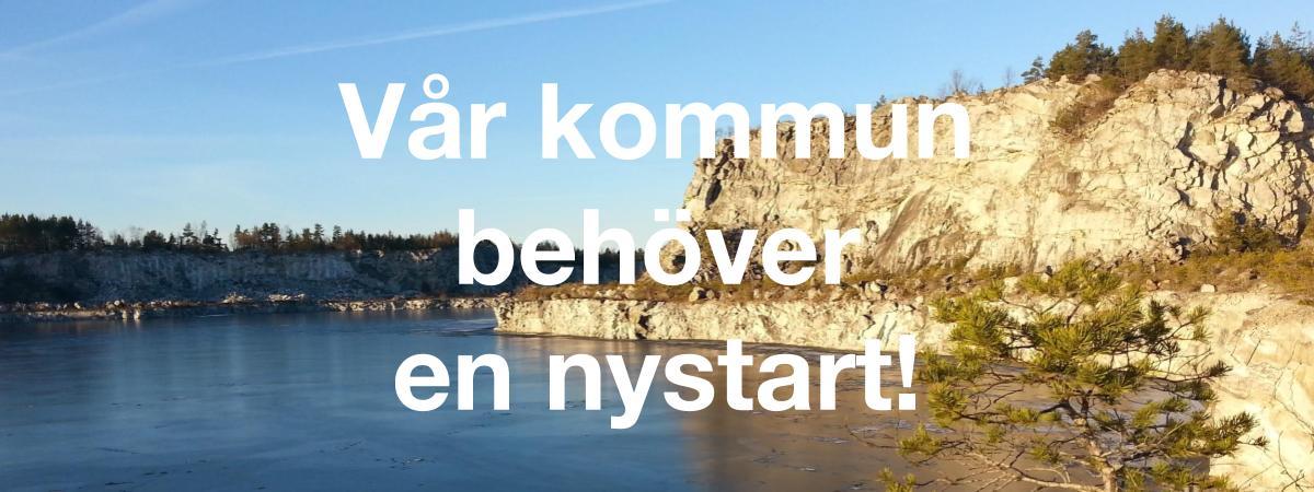 2018-07-16 - Vår kommun behöver en nystart! - Rösta för en nystart! Rösta på Sorundanet Nynäshamns kommunparti!