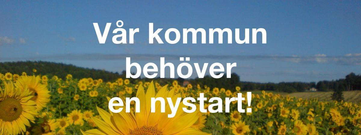 Vår kommun behöver en nystart! Rösta för en nystart! Rösta på Sorundanet Nynäshamns kommunparti!