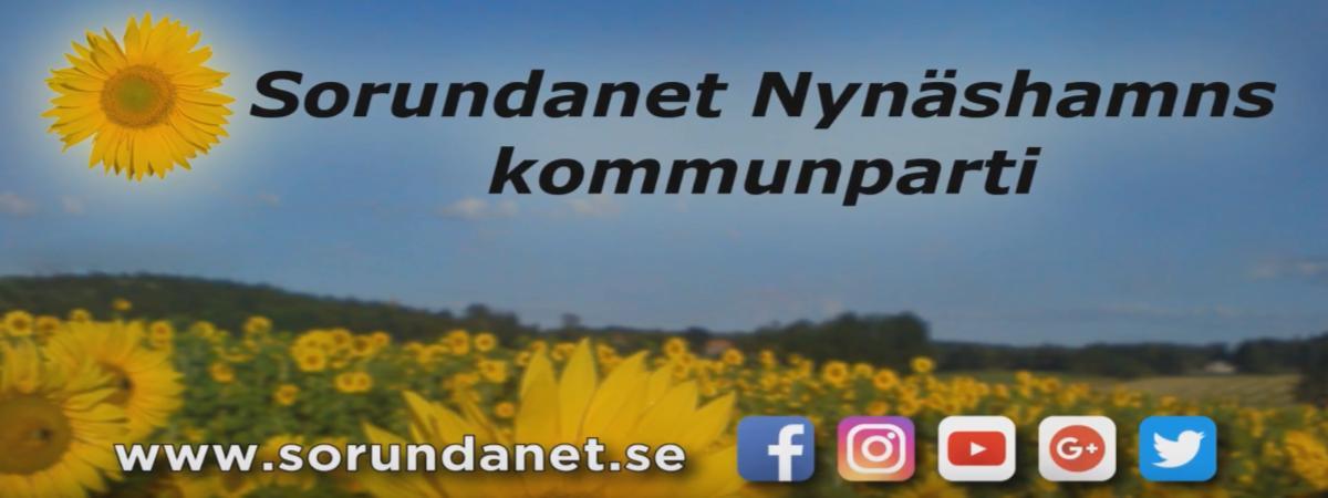 Hela vår kommun behöver en nystart! Rösta för en nystart! Rösta på Sorundanet Nynäshamns kommunparti!