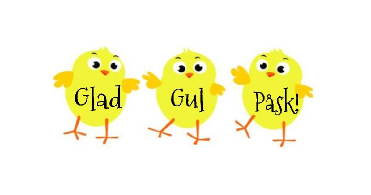 """2019-04-20 - Glad Gul Påsk! - Alla invånare i hela vår kommun önskas en riktigt """"Glad och Gul Påsk""""!"""