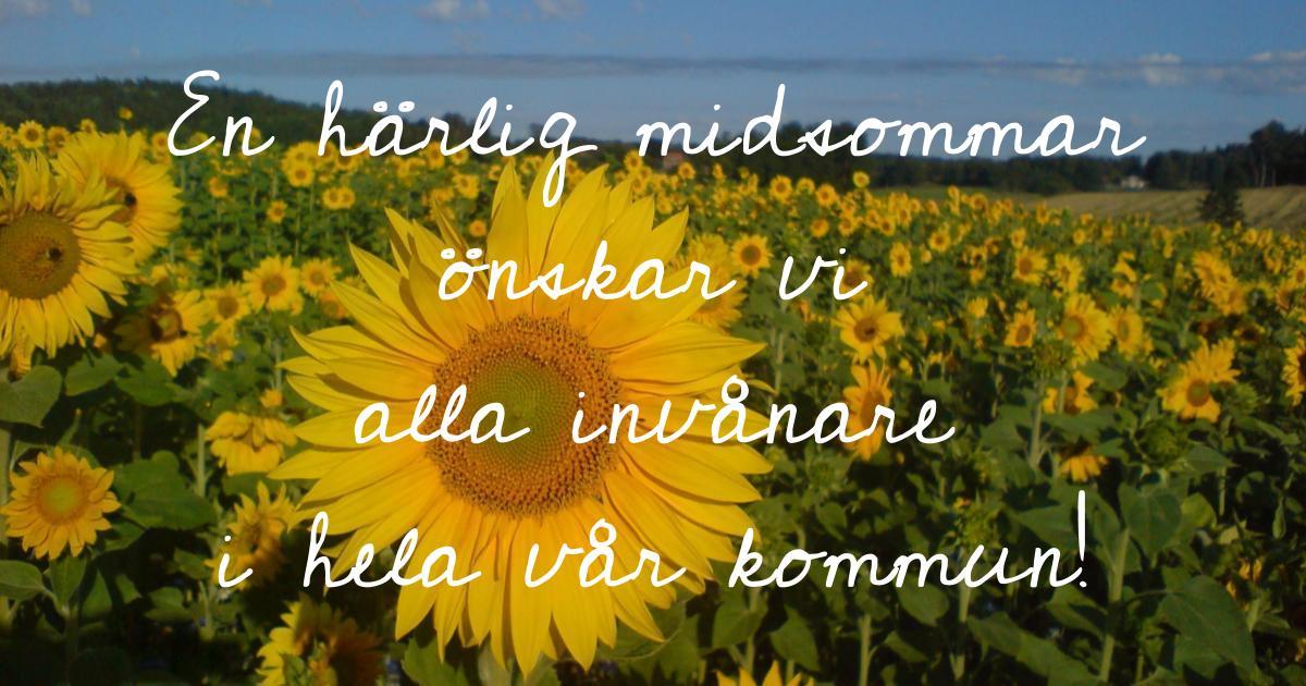 Glad Midsommar! Vi önskar alla invånare i hela vår kommun en härlig Midsommar!