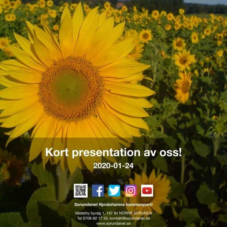 2020-01-24 - Kort presentation om oss - Nio bilder om Sorundanet Nynäshamns kommunpartis historia!