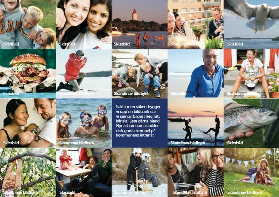 """2020-06-17 - Tilläggsyrkande beträffande """"Revidering av Nynäshamns kommuns grafiska profil"""" - Vi vill att den grafiska profilen utökas med foton som visar hela vår vackra kommun och som alla invånare kan känna igen sig i."""
