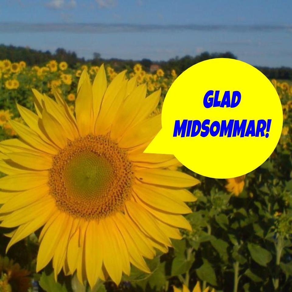 """2020-06-18 - Glad Midsommar! - """"Glad Midsommar"""" önskar vi alla invånare i hela vår kommun!"""