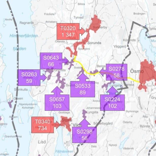 Remissvar till regionen rörande ny cykelplan för Stockholms län. Primär länsväg 225 föreslås pekas ut som regionalt cykelstråk.