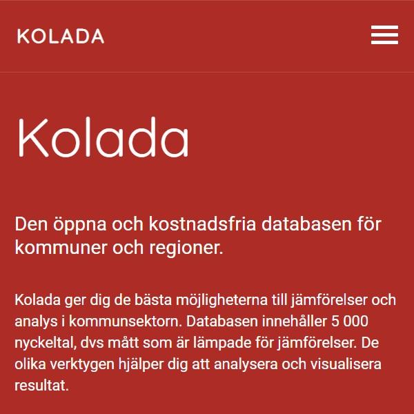 Kommun och landstingsdatabasen, KOLADA