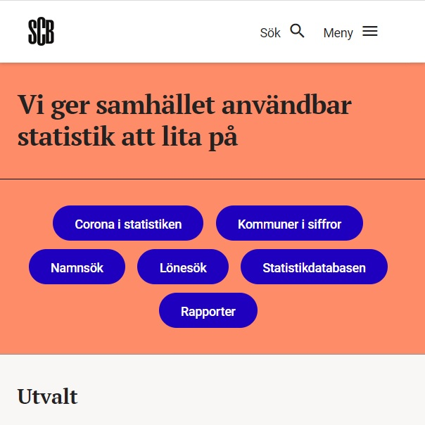 Statistiska centralbyrån, SCB