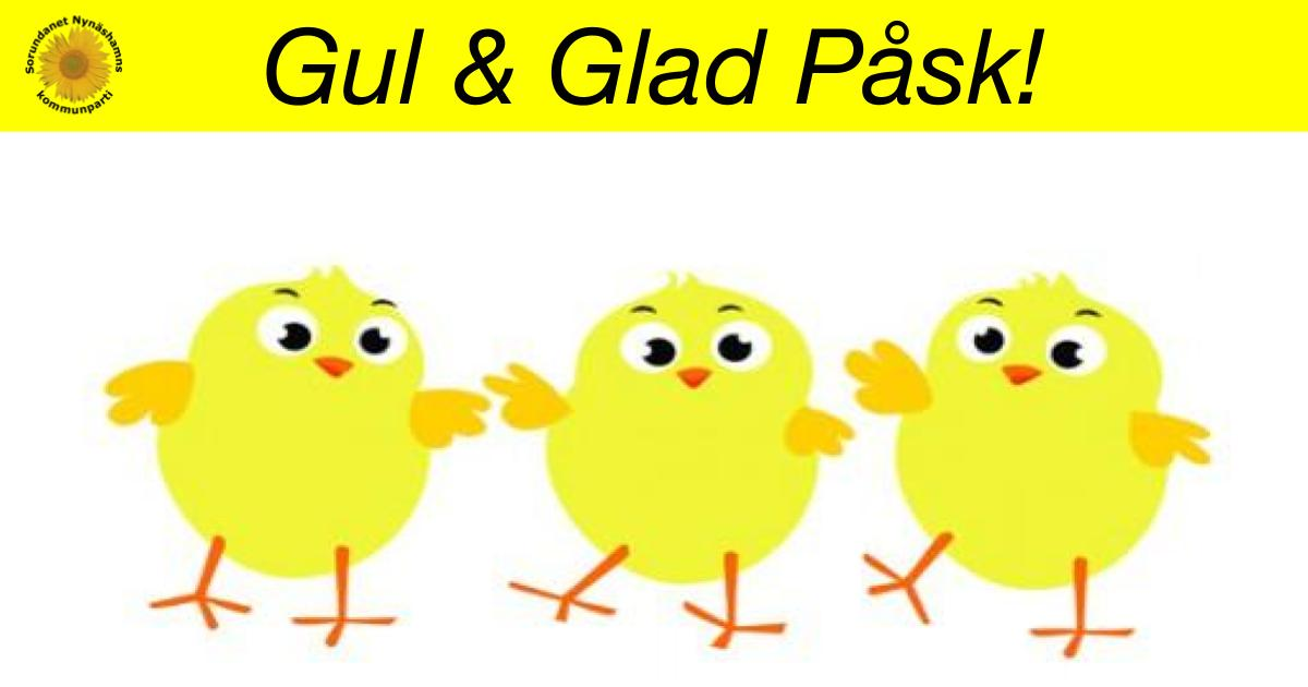 Gul och Glad Påsk Önskar vi alla!